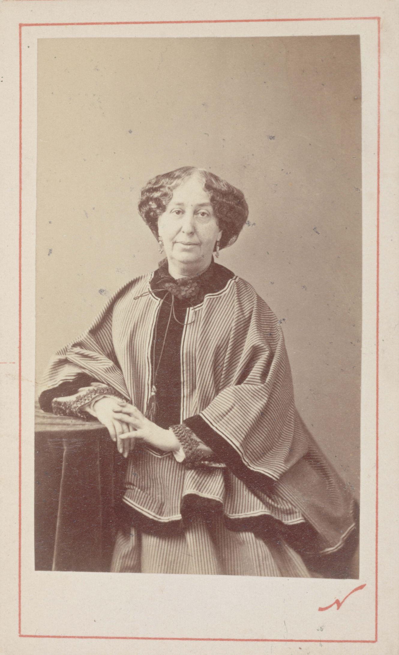 Portrait de George Sand, photographie de Nadar
