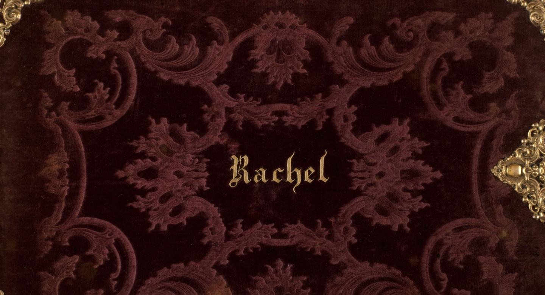 Album Amicorum de la tragédienne Rachel avec inscrit Rachel