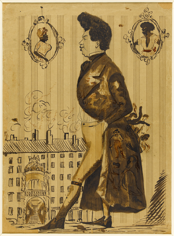 Portrait-charge d'Alexandre Dumas père